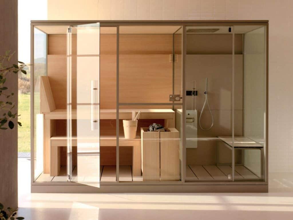 Effegibi Sauna und Hammams Mid , türkisches Bad mit finishe Sauna Kombination