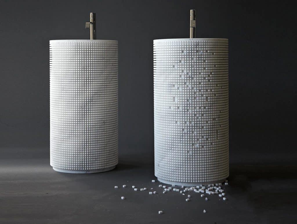 Antonio Lupi Waschbecken Pixel aus Marmor