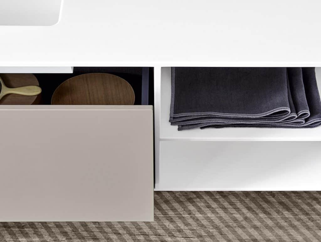 Rexa Design Waschbecken Unico mit Schubladen