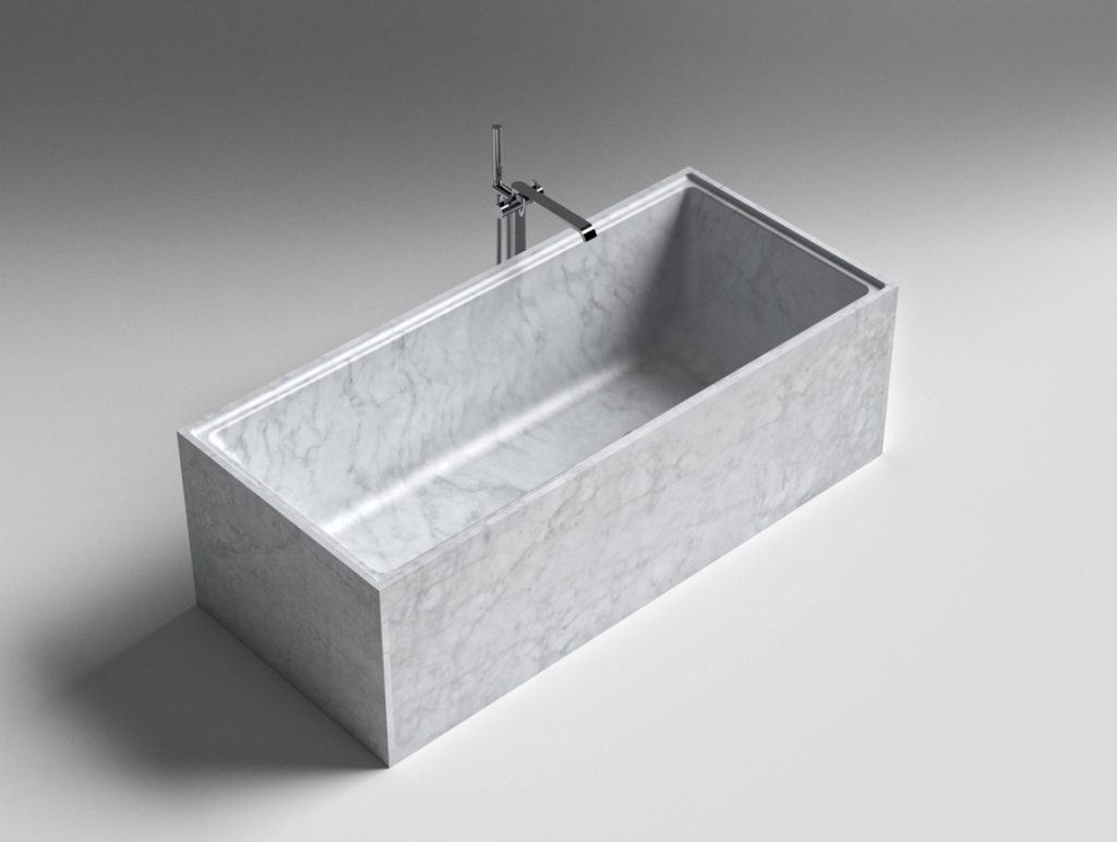 Sign Badewanne Neutra aus Astone® oder Naturstein