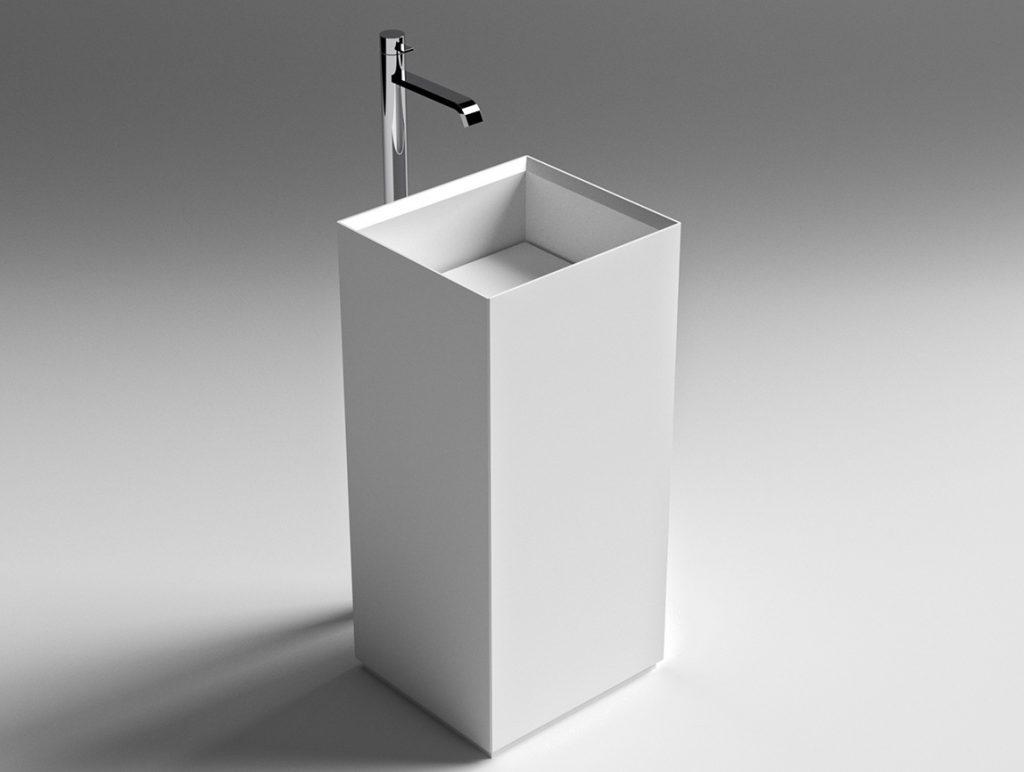 Sign freistehenes Waschbecken aus Atone® oder Naturstein
