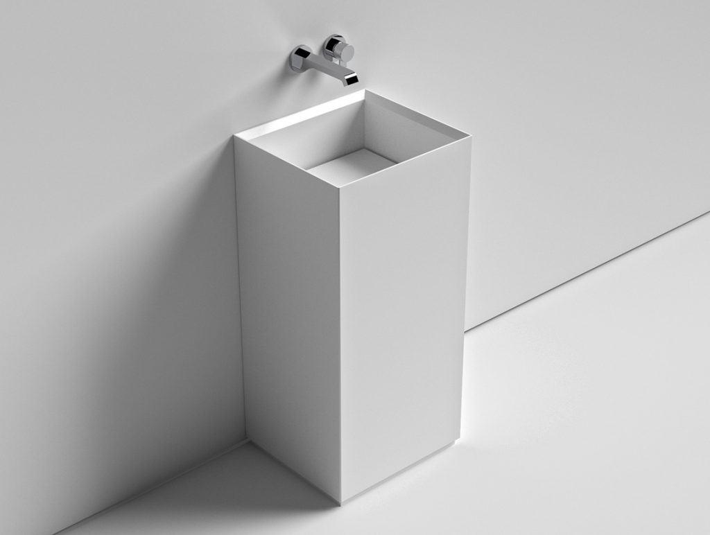 Sign wandmontiertes Waschbecken aus Atone® oder Naturstein
